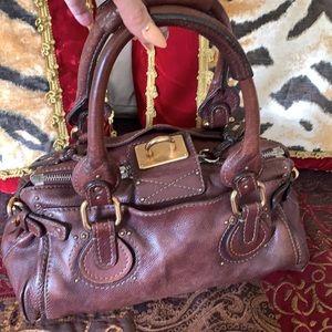Authentic Chloe leather bag no padlock